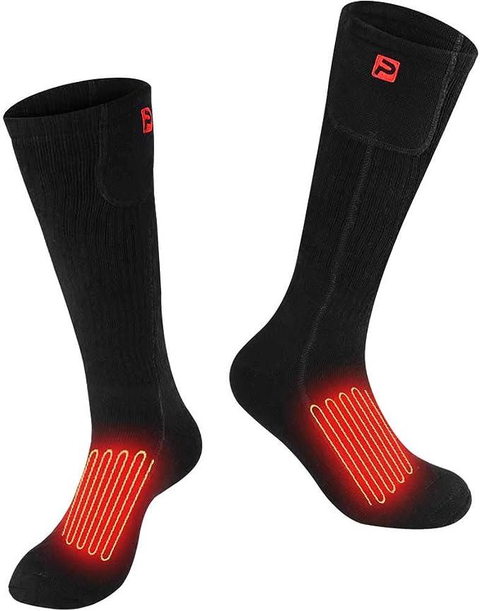 Chauffe-pieds Froids Dhiver Thermiques avec Batterie Rechargeable Type C 4800mAh 3,7V PROSmart Chaussettes Chauffantes Chaussettes Chauff/ées /électriques avec 3 R/églages de Chaleur