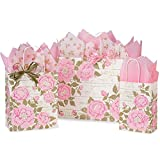 Cottage Rose Garden Paper Shopping Bags - Assortment of 3 sizes - 375 Pack