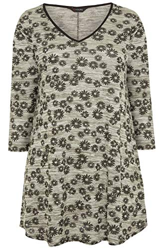 Yours Clothing Womens Plus Size Daisy Print Swing Top