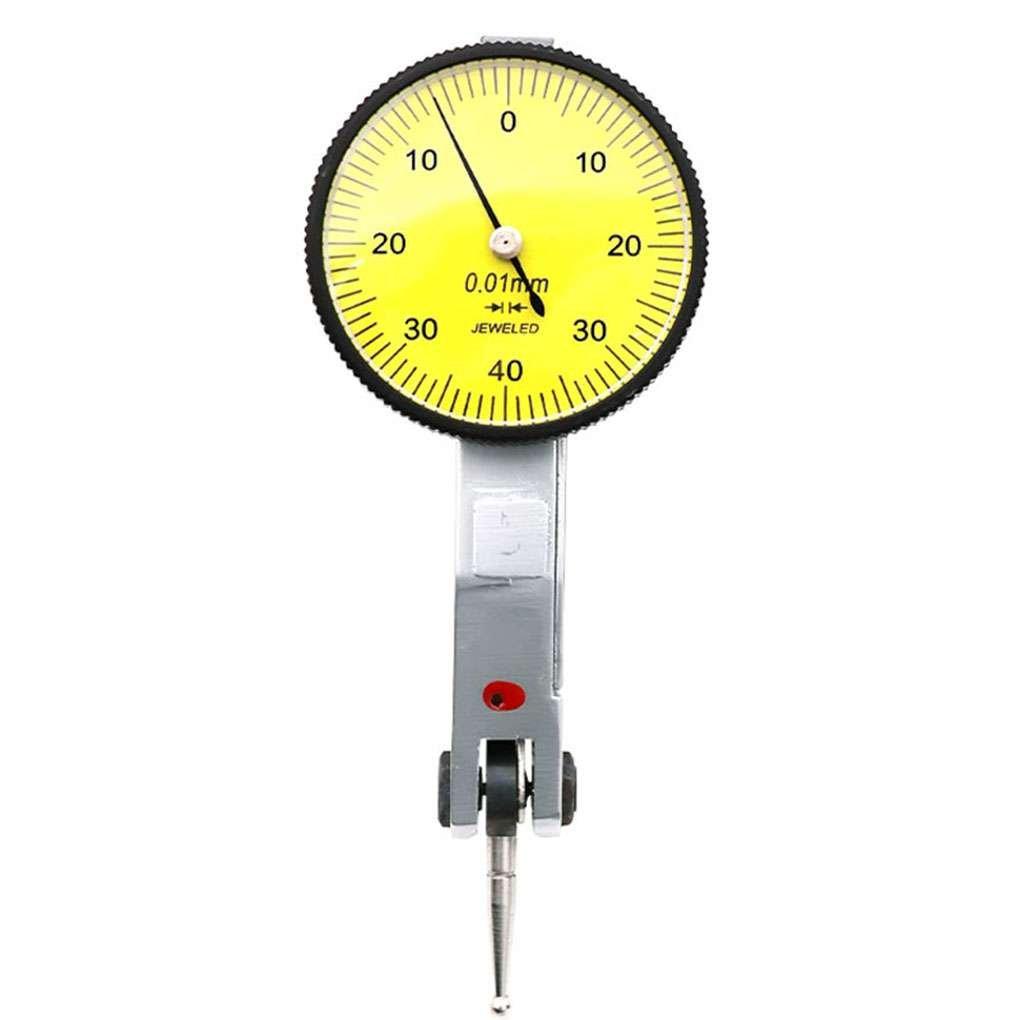 0-0.8mm Measurement Range 0.01mm Precision 32mm Dial Lever Dial Indicator Gauge Scale Meter Xuanhemen