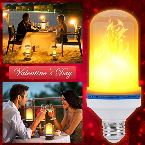 Dynamics Light Bullet (LED Flame Light Bulb, E26 LED Flame Effect Fire Light Bulbs Simulated Atmosphere Lighting Flame Flickering Lamps for Bars, Festival Decoration)