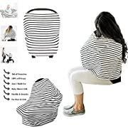 ZAVAbaby Baby Car Seat Cover, Breastfeeding Girls & Boys - Nursing Cover, Canopy, Stroller, Shopping Cart, Carseat Covers Privacy Protection Your Baby - Best Multi-Use Stretchy Cover