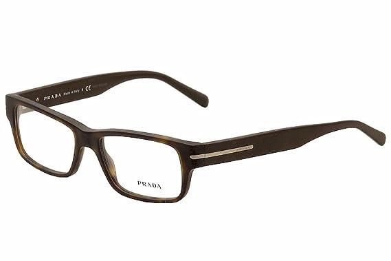 6c865f72a9 Amazon.com  Prada Eyeglasses PR22RV HAQ1O1 Matte Havana 54 16 145 ...
