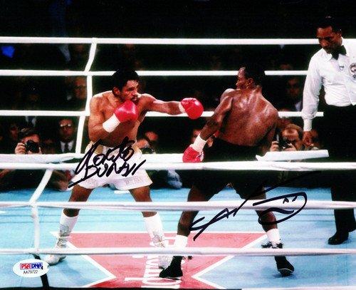 Sugar Ray Leonard and Roberto Duran Signed 8x10 Photo - PSA/DNA Authentication - Boxing (Boxing Memorabilia)