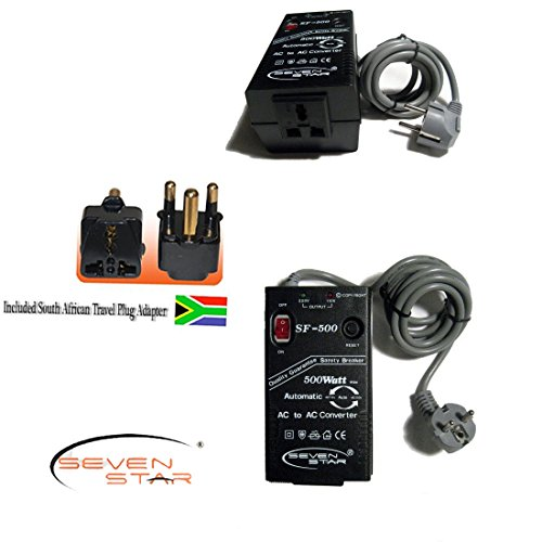 Price comparison product image Seven Star SF500 500W 110v/220v 220v/110v Step Up/Down Automatic Transformer Adapter + South Africa Travel Adapter Plug