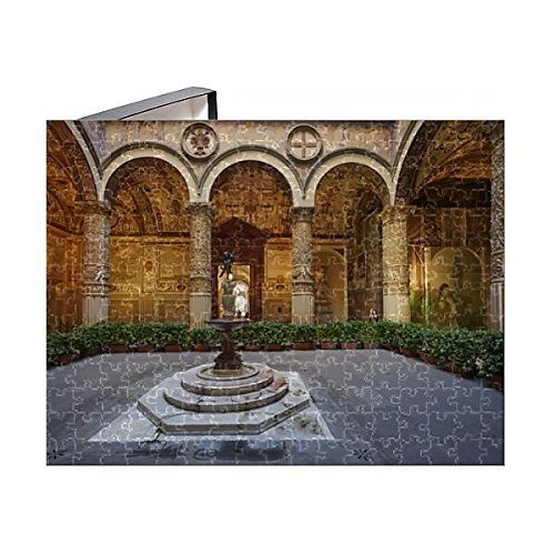 Robert Harding 252 Piece Puzzle of The courtyard of Palazzo Vecchio (Old Palace), Florence, Tuscany - In Florence Statues