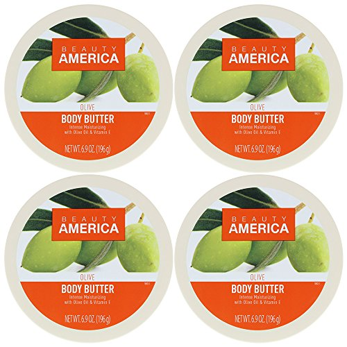 Beauty America Intense Moisturizing Body Butter With Olive Oil & Vitamin E, 4 pack by Beauty America