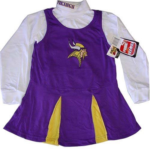 Vestido de Cheerleader de manga larga de Minnesota Vikings NFL Youth 14 L