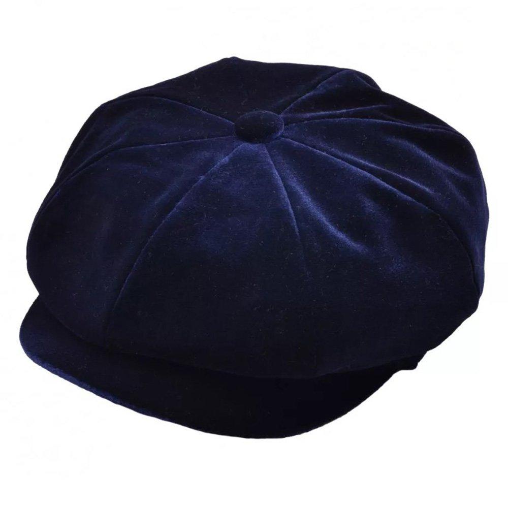 Express Hats Ladies Classic Velvet Bakerboy 8 Panel Cap, 3 Colours - 2 Sizes