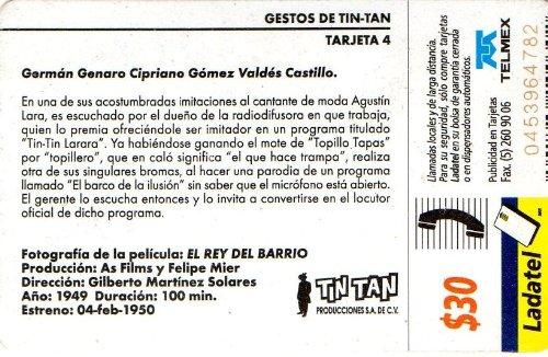 Amazon.com: Gestos Tin Tan German Valdes Origin Mexican Ladatel Phone Card El Rey Del Barrio: Cell Phones & Accessories