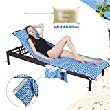 YOULERBU Thickened Microfiber Beach Chair Cover