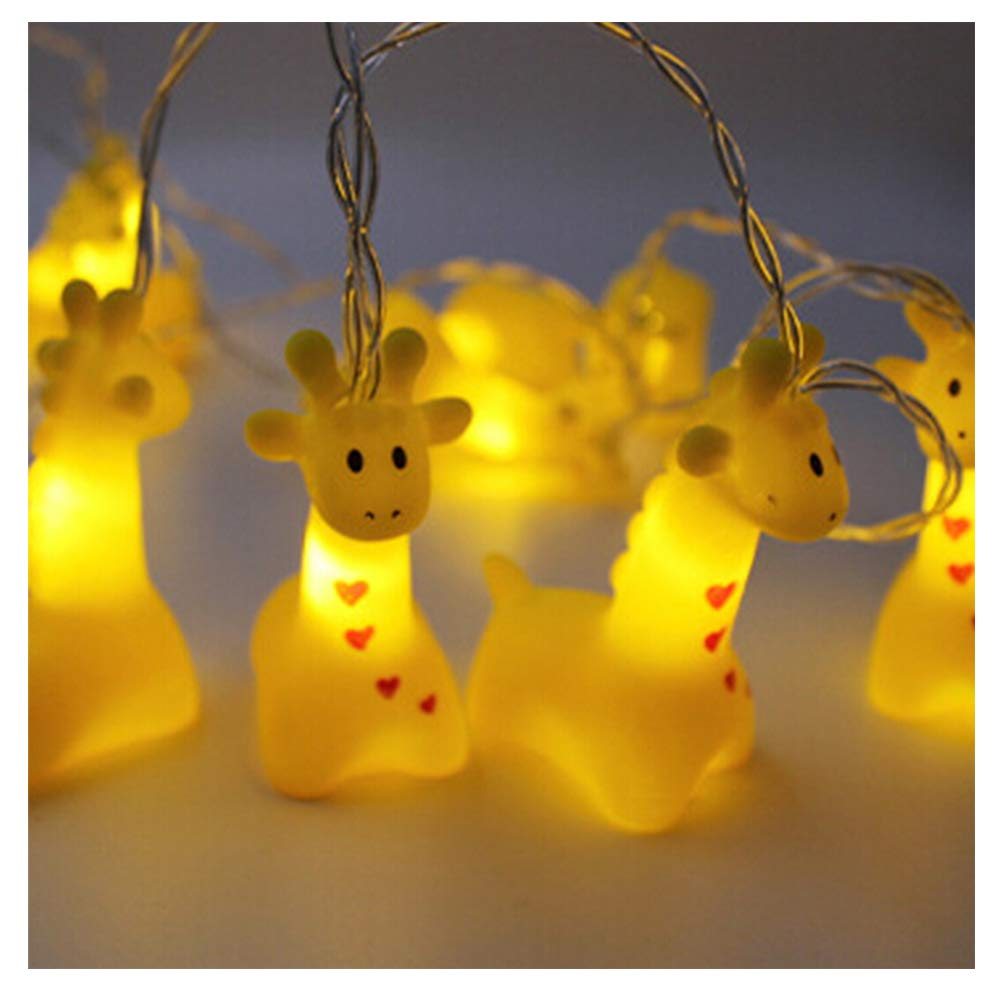 Smart Life Helper Indoor Outdoor 4.9 ft Giraffe Cute Animal Ornaments Battery Operated 10 LED Decorative String Lights for Party Yard& Garden Kids Bedroom Living-room Dorm Uses