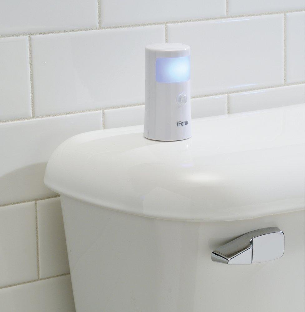 Interdesign 13240EU iForm Bewegungsmelder f/ür die Arbeitsplatte Wasserresistent Badezimmerlicht Automatisches Nachtlicht LED wei/ß