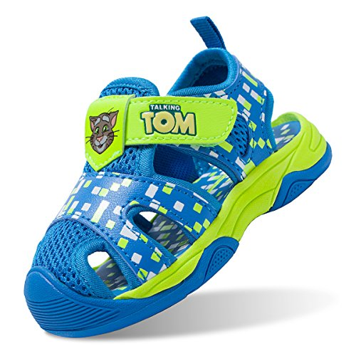 Talking Tom Boys Sandals Closed Toe Sports Sandals Summer Shoes Kids Athletic Outdoor Strap Shoes Blue 5.5