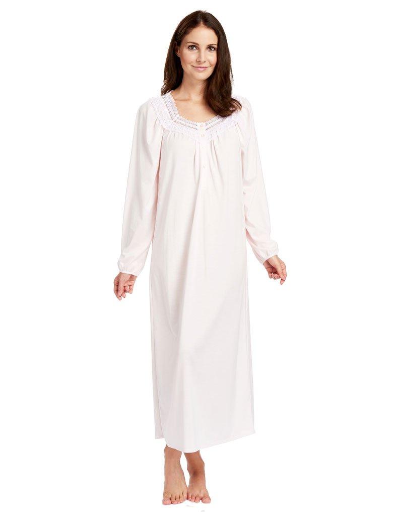Feraud 3883039-10035 Women's Pearl Pink Cotton Night Gown Loungewear 12