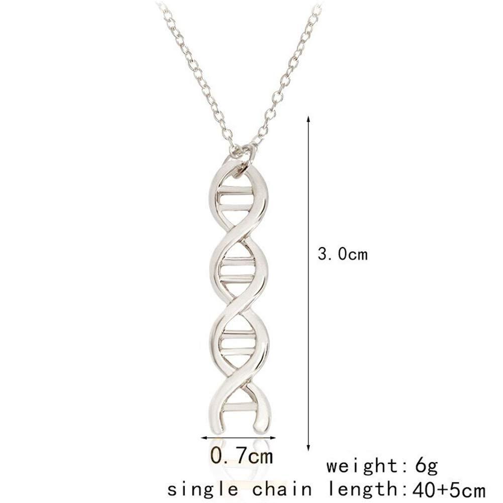 AILUOR Damen Infinity Spiral DNA Doppelt Helix Chemie Wissenschaft Halsketten-Ohrringe Biologie Molecule Anh/änger Schmuck-Set F/ür Einen Medizinstudenten