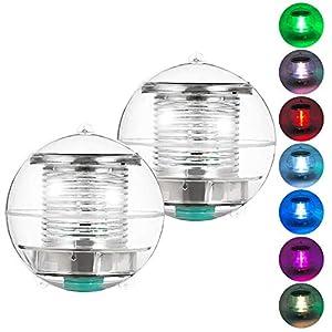 Coquimbo luci piscina solare, Colore Cambiando Impermeabile LED luci giardino solari galleggiante stagno luce per… 6 spesavip