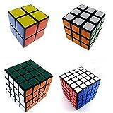 set of 2x2x2 3x3x3 4x4x4 5x5x5 ZMSTORES rubick rubix migic puzzle cube