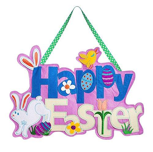 (Evergreen Flag Happy Easter Outdoor Safe Felt Door)