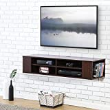 FITUEYES itueyes Wall Mounted Audio/Video Console Wood Grain Xbox one /PS4/ vizio/Sumsung/Sony TV DS212001WB