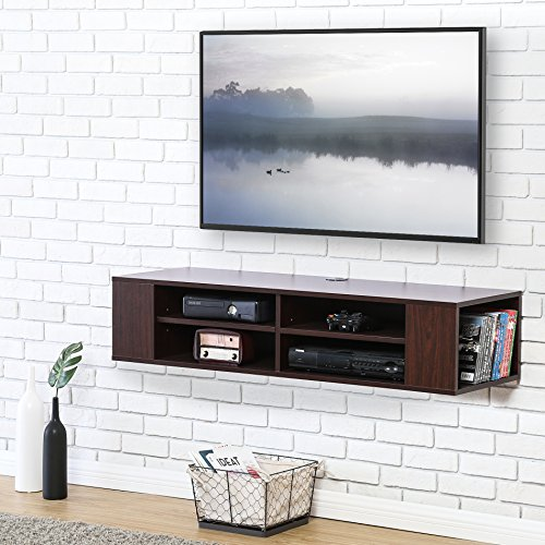 FITUEYES itueyes Wall Mounted Audio/Video Console Wood Grain Xbox one /PS4/ vizio/Sumsung/Sony TV ()