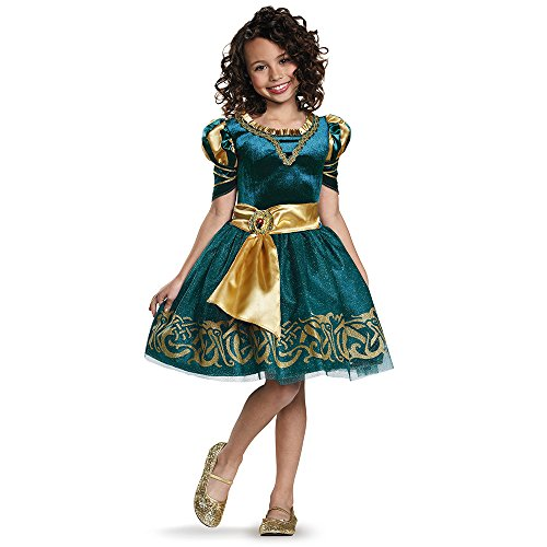 Brave Halloween Costume (Merida Classic Disney Princess Brave Disney/Pixar Costume, Medium/7-8)