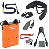 Fomito Godox PB960 Portable Extended Flash Power Battery Pack Kit Dual Output for Nikon SB910, SB900, SB800, SB28 EURO, SB28DX, SB80DX,for AD600 AD360 II AD180, for Mobile phone Orange