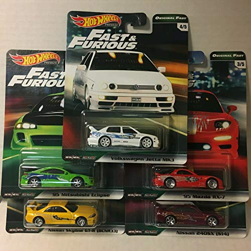 Hot Wheels 2019 Fast & Furious Premium B Release 5 CAR Set