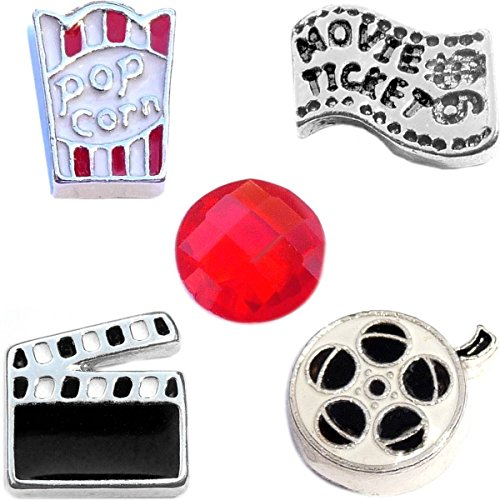Ready Set Action Movie Charm Set for Floating Lockets Jewelry
