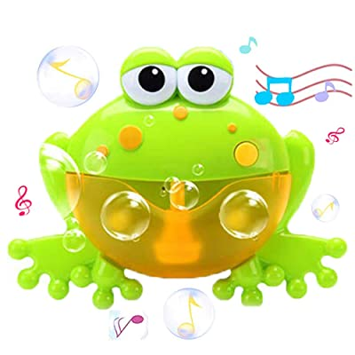 WenToyce Frog Bubble Maker for Bath, Foam Blower Bubbling Making Machine, Nursery Rhyme Musical Bathtub Toy for Baby Kids Happy Tub Time: Toys & Games