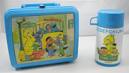 (Muppets Sesame Street Big Bird and Friends Reusable Lunch Box and Drink Container - Vintage)