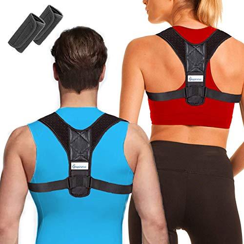 Hot Best Posture Corrector for Women & Men + Bonus Support Pads, Adjustable Upper Back Brace Perfect for Clavicle Support, Natural Shoulder Correction, Womens + Mens Medical Kyphosis Brace, INSPIRATEK