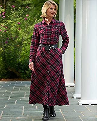 National Mad for Plaid Flannel Dress