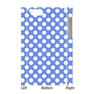 3D Bumper Plastic Case Of Polka dot customized case For Iphone 4/4s by lolosakes