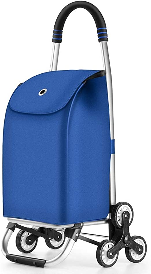 Light Weight Household Utility Shopping Cart with Wheels ZA Fashion Folding Trolley Shopping Bag Color : A Portable Luggage Cart