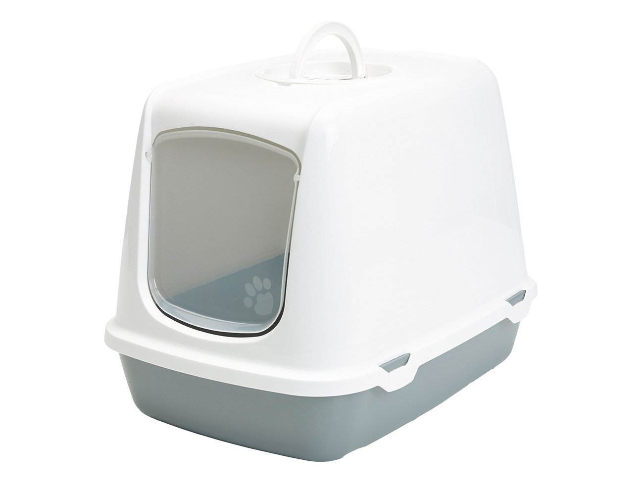 VADIGRAN Savic Maison de Toilette pour Chat Oscar Blanc/Gris 50 X 37 X 39 cm 400469