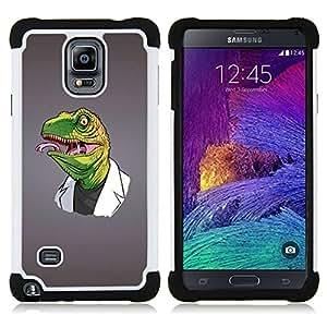 - Funny Reptile Reptilian Raptor Doctor - - Doble capa caja de la armadura Defender FOR Samsung Galaxy Note 4 SM-N910 N910 RetroCandy
