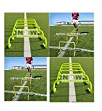CW Brand New Improved Design PVC ''9 Inches '' Tall Adjustable Speed Agility Hurdles {Set of 12 } Support to all Sports ,Football, Volleyball,Basketball,&Feet Strength Training