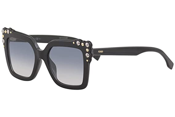 Amazon.com: Fendi puede ojo FF 0260/S negro/gris azul shaded ...