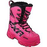 FXR X Cross Lace Boot Authentic Durable Lightweight Toe Kick Snocross Snowmobile - Fuchsia - Womens 7