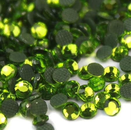 BrillaBenny 300 Strass termoadhesivos Verde Claro Peridot Green HOTFIX Rhinestone Iron On Tejidos m/óviles decoraci/ón Ropa Joyas