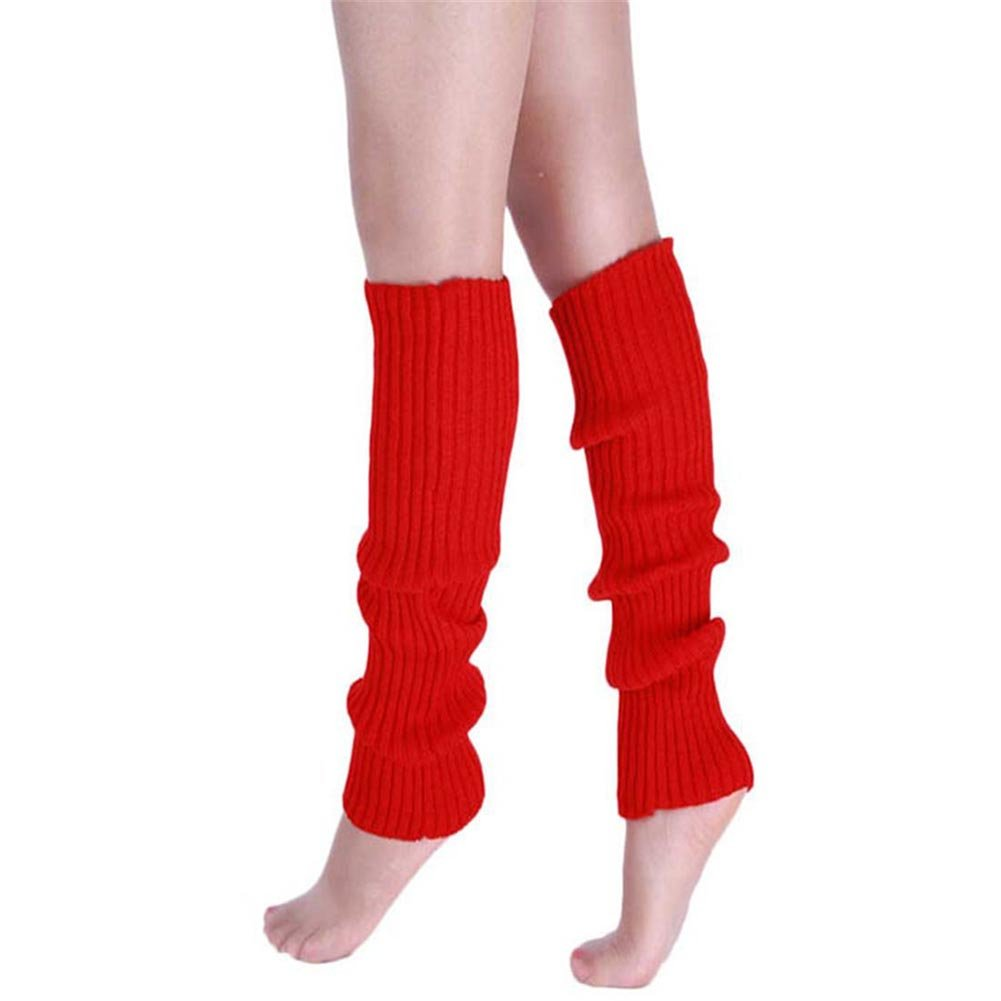 CHUANGLI Cotton Leg Warmers Ladies Fashion Dance Candy Colour Knit Long Socks YI-tronic Shop CHUANGLI-MPA557O