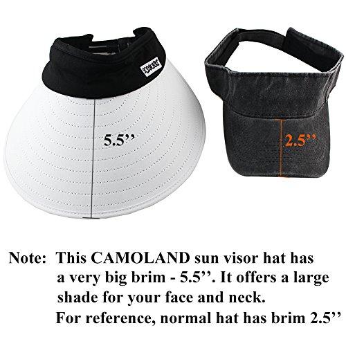 Sun Visor Hats Women 5.5'' Large Brim Summer UV Protection Beach Cap by CAMOLAND (Image #4)
