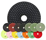 RockMaster 4'' Standard Wet Polishing Pads (7 Piece Kit)