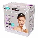 Face Cleansing Wipes Cvs - Kirkland-Signature Daily Facial Towellettes, 4.53 Pound (180 Count, 1-Box)