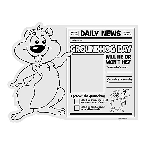 Fun Express - Cyo All About Groundhogs Day PosteR-30 - Craft Kits - CYO - Paper - Misc CYO - Paper - 30 Pieces]()