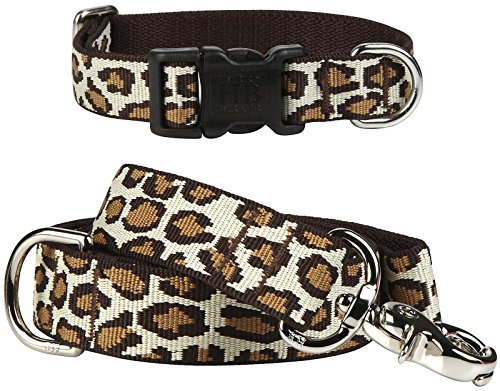Harry Barker Leopard Collar - Natural- Small - 6-11 inch