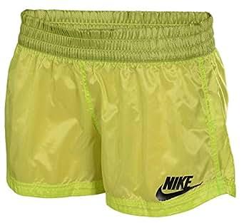 Nike Women's See Thru Casual Running Swimming Shorts-Green-Medium