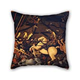 roman drawing - Oil Painting Paolo Uccello - Battaglia Di San Romano Pillowcase ,best For Birthday,drawing Room,lounge,her,bf,kids Room 18 X 18 Inches / 45 By 45 Cm(double Sides)