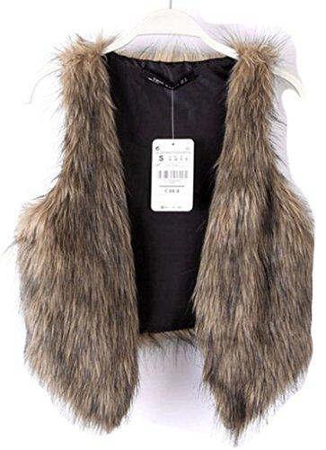 Naggoo Womens Waistcoat Short Outerwear